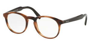 Prada PR 19SV U6J1O1 STRIPED BROWN