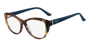 Salvatore Ferragamo SF2683 216 STRIPED BROWN