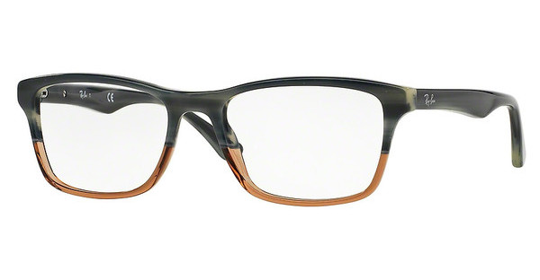 Ray-Ban RX5279 5543 BLUE HORN GRAD TRASP BROWN