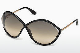 Gafas de visión Tom Ford Liora (FT0528 01B) - Negras, Shiny