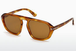 Gafas de visión Tom Ford FT0634 53E - Amarillas, Marrones, Havanna