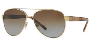 Burberry BE3084 1145T5 POLAR BROWN GRADIENTLIGHT GOLD