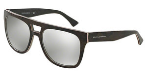 Dolce & Gabbana DG4255 29526G LIGHT GREY MIRROR SILVERCAMO/FLUO RED/BROWN