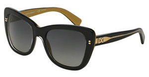 Dolce & Gabbana DG4260 2955T3 POLAR GREY GRADIENTTOP BLACK ON GOLD