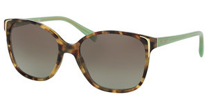 Prada PR 01OS UEZ4K1 GREEN GRADIENTSPOTTED BROWN GREEN