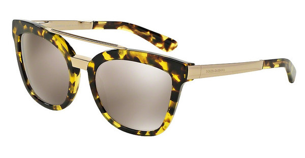Dolce & Gabbana DG4269 29695A LIGHT BROWN MIRROR GOLDCUBE HAVANA LEMON