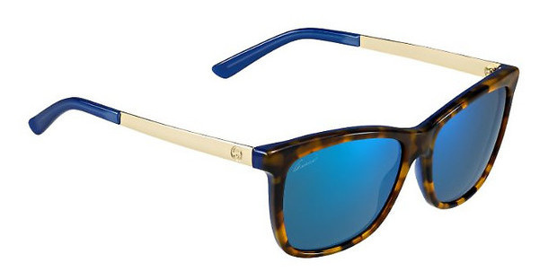 Gucci GG 3675/S H1J/1G MULTILAYER BLUEHVBLTT GD (MULTILAYER BLUE)