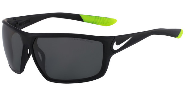 Nike NIKE IGNITION P EV0868 010 MATTE BLACK/WHITE WITH POLARIZED GREY LENS LENS