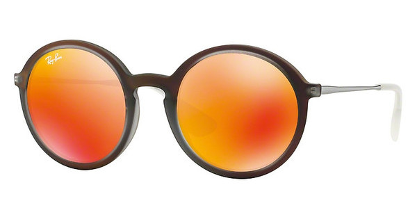 Ray-Ban RB4222 61676Q BROWN MIRROR ORANGESHOT RED RUBBER